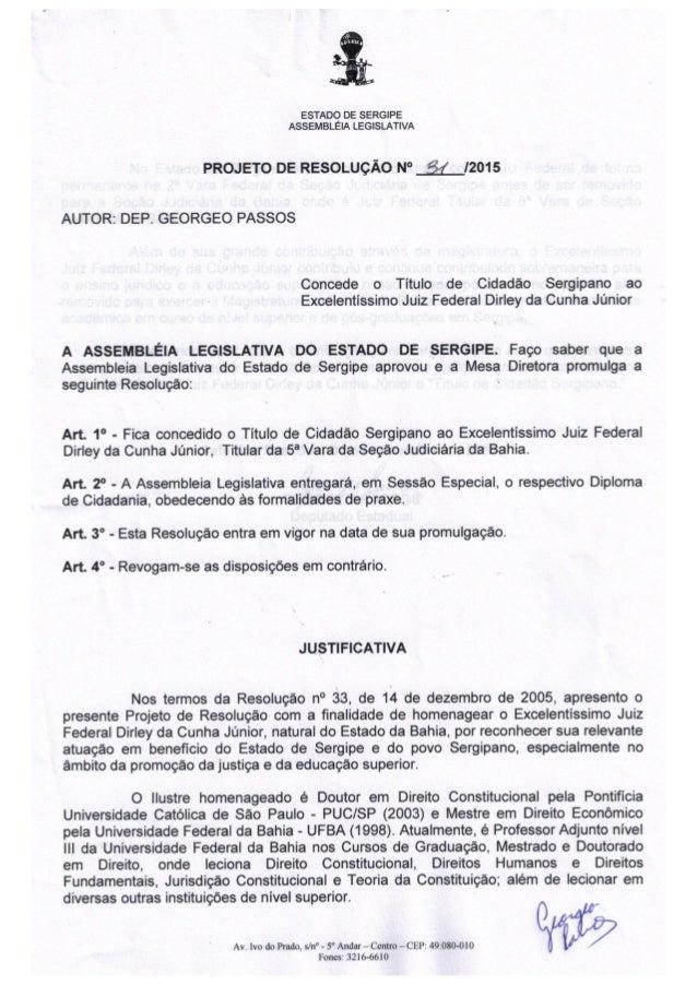Projeto de resolução nº 31/2015