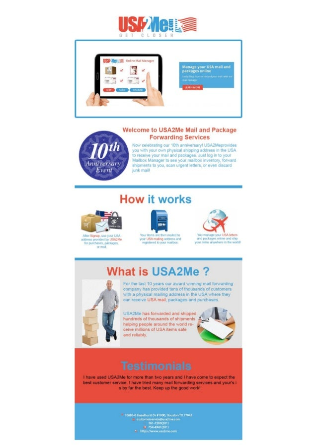 Mail Forwarding Services by USA2ME