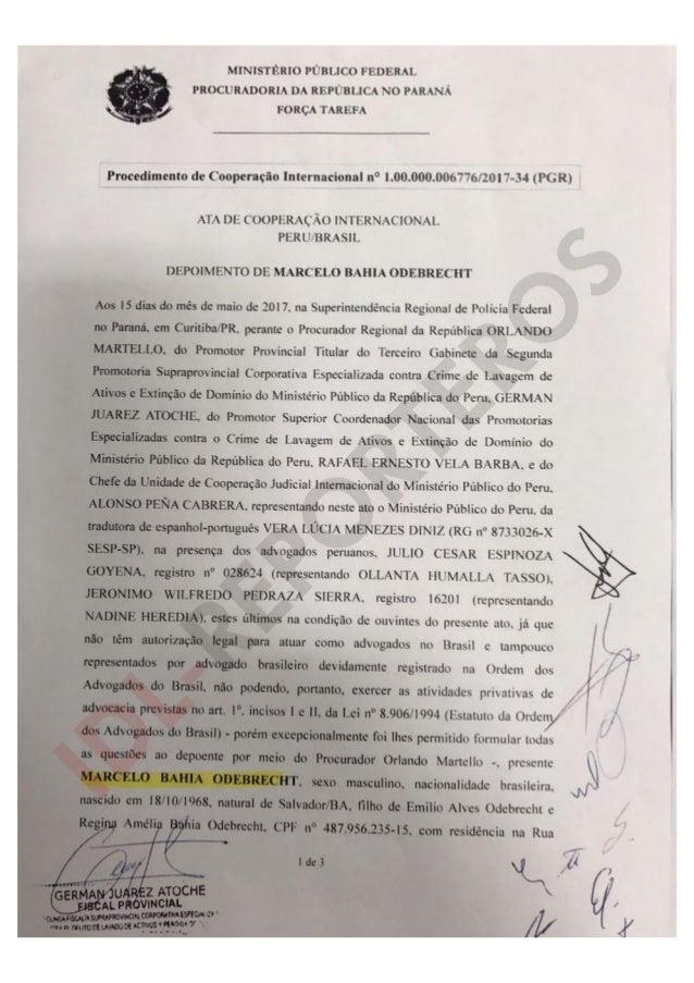 Acta de Cooperación Internacional Perú/Brasil