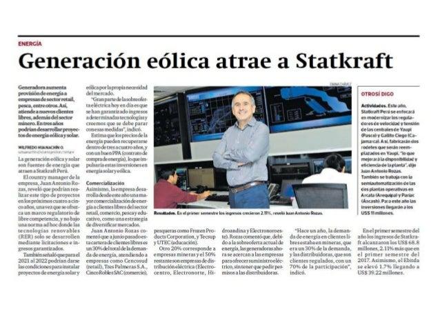 Generación eólica atrae a Statkraft