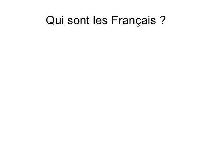 Qui sont les Français ?