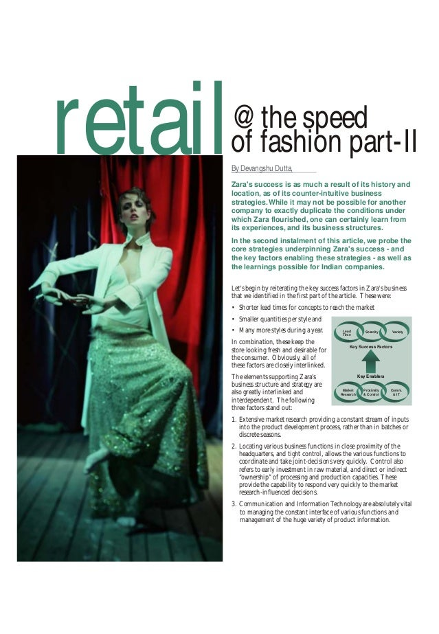 zara retail the speed of fashion