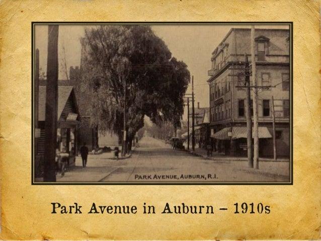 Park Avenue in Auburn – 1910s