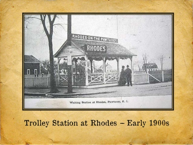 Trolley Station at Rhodes – Early 1900s