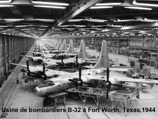 Usine de bombardiers B-32 à Fort Worth, Texas,1944