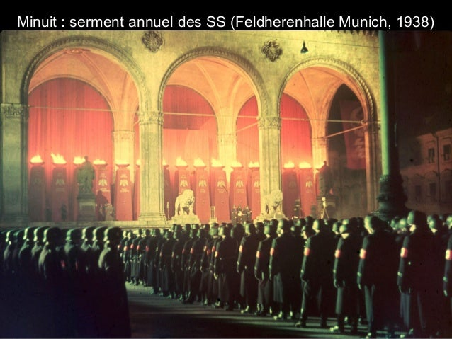 Minuit : serment annuel des SS (Feldherenhalle Munich, 1938)