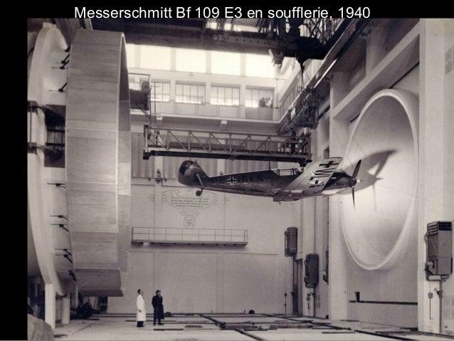 Messerschmitt Bf 109 E3 en soufflerie, 1940