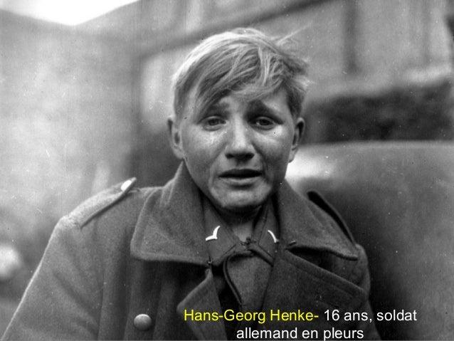Hans-Georg Henke- 16 ans, soldat allemand en pleurs