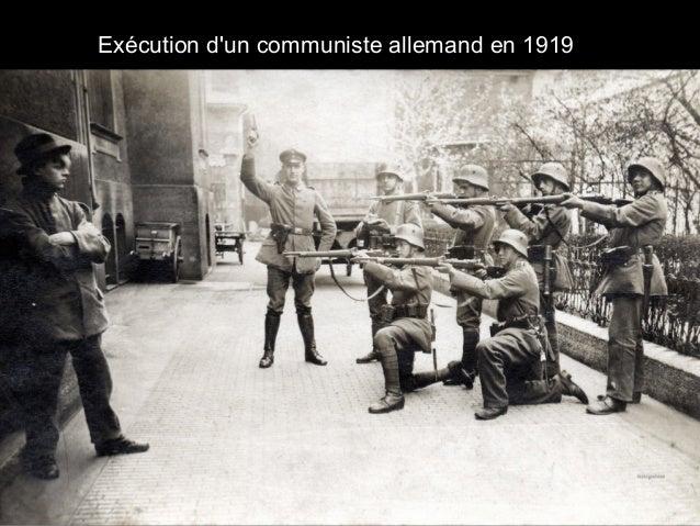 Exécution d'un communiste allemand en 1919