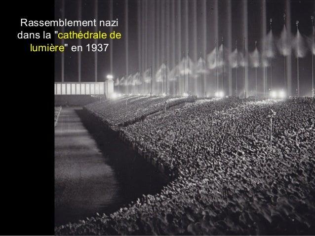 """Rassemblement nazi dans la """"cathédrale de lumière"""" en 1937"""