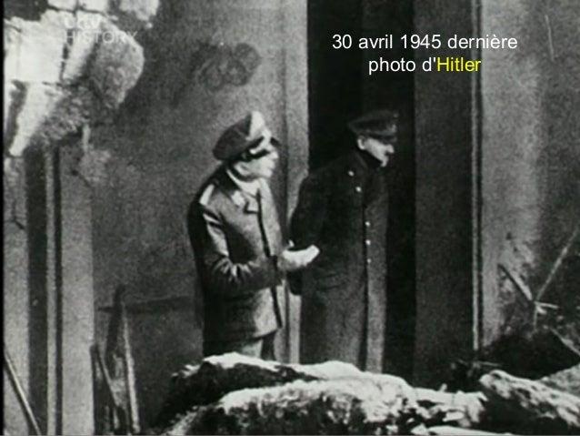 30 avril 1945 dernière photo d'Hitler