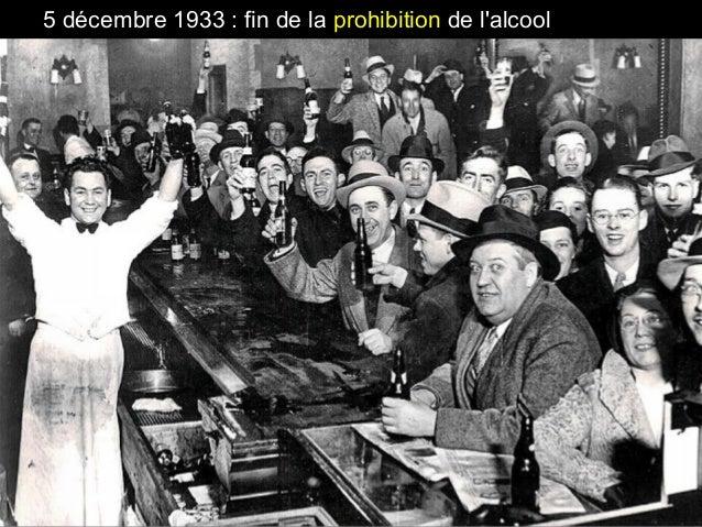 5 décembre 1933 : fin de la prohibition de l'alcool
