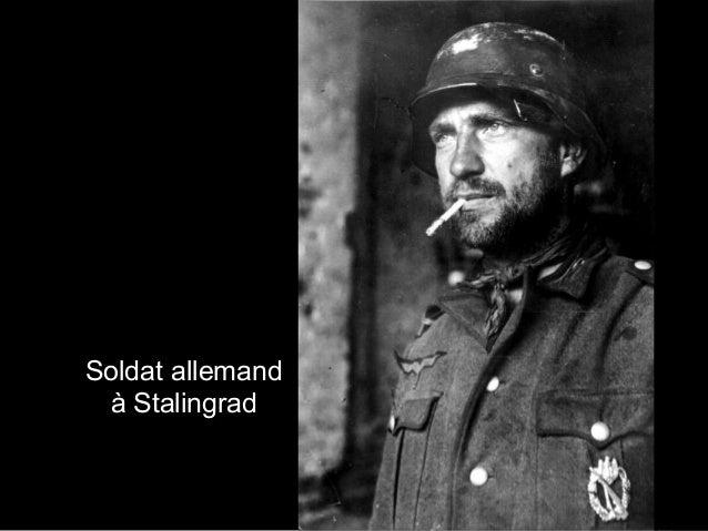 Soldat allemand à Stalingrad