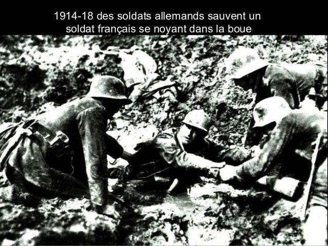 1914-18 des soldats allemands sauvent un soldat français se noyant dans la boue