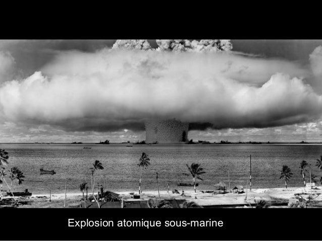 Explosion atomique sous-marine