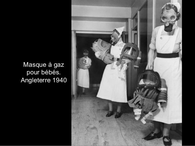 Masque à gaz pour bébés. Angleterre 1940