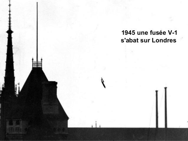 1945 une fusée V-1 s'abat sur Londres