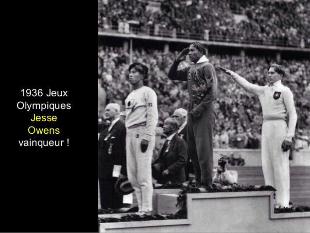 1936 Jeux Olympiques Jesse Owens vainqueur !