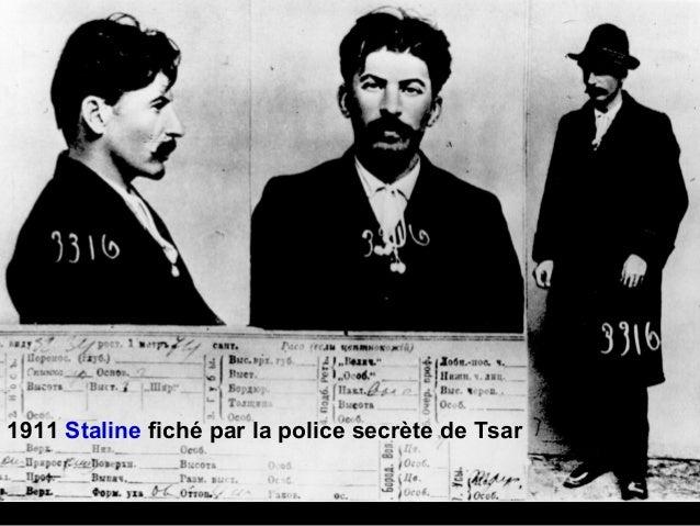 1911 Staline fiché par la police secrète de Tsar