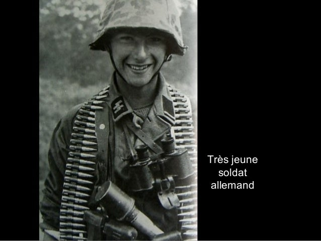Très jeune soldat allemand