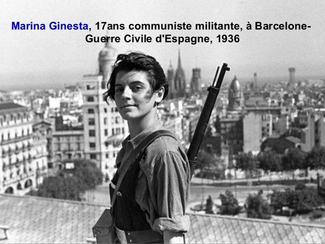 Marina Ginesta, 17ans communiste militante, à Barcelone- Guerre Civile d'Espagne, 1936