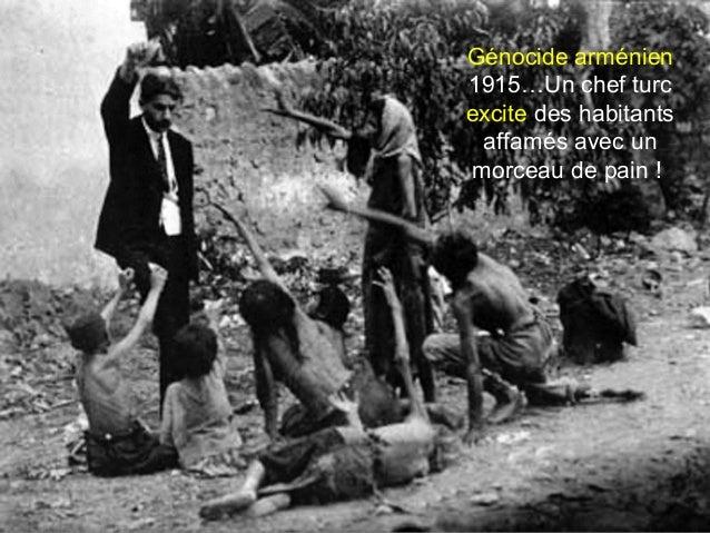 Génocide arménien 1915…Un chef turc excite des habitants affamés avec un morceau de pain !
