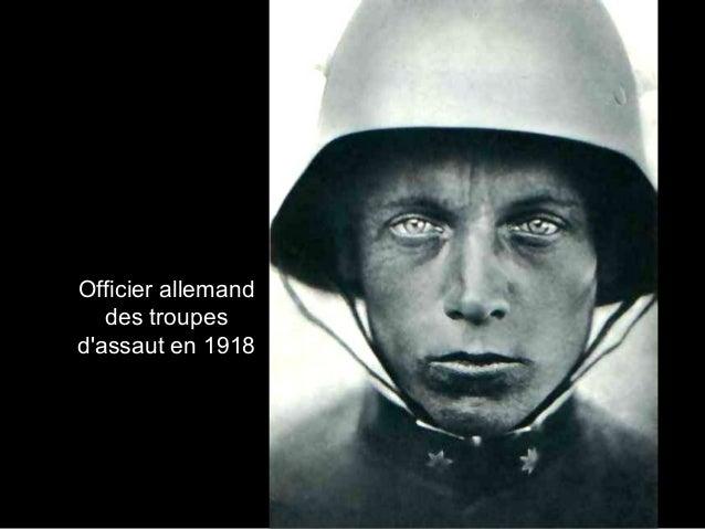 Officier allemand des troupes d'assaut en 1918