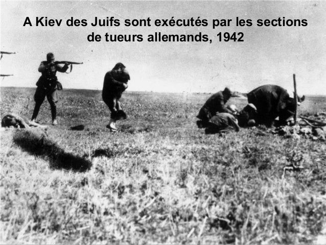 A Kiev des Juifs sont exécutés par les sections de tueurs allemands, 1942