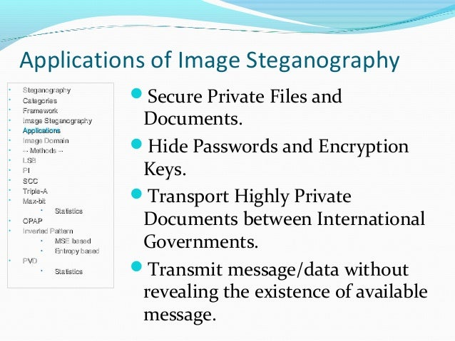 steganography essay Steganography kamberlin king department of math, computer and information sciences mississippi valley state university ms, united states of america.