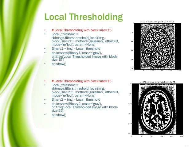 Image thresholding with scikit-image