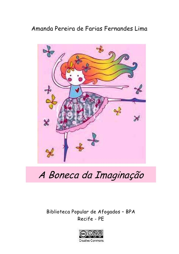 Amanda Pereira de Farias Fernandes Lima       A Boneca da Imaginação        Biblioteca Popular de Afogados – BPA          ...