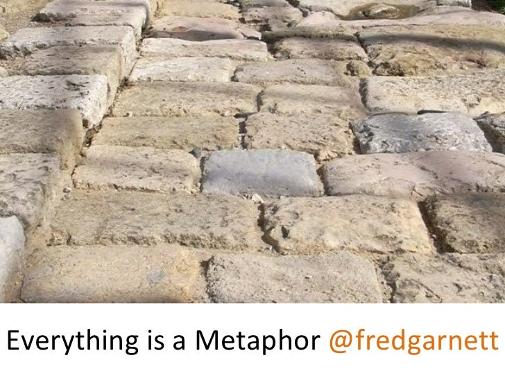 Everything is a Metaphor @fredgarnett