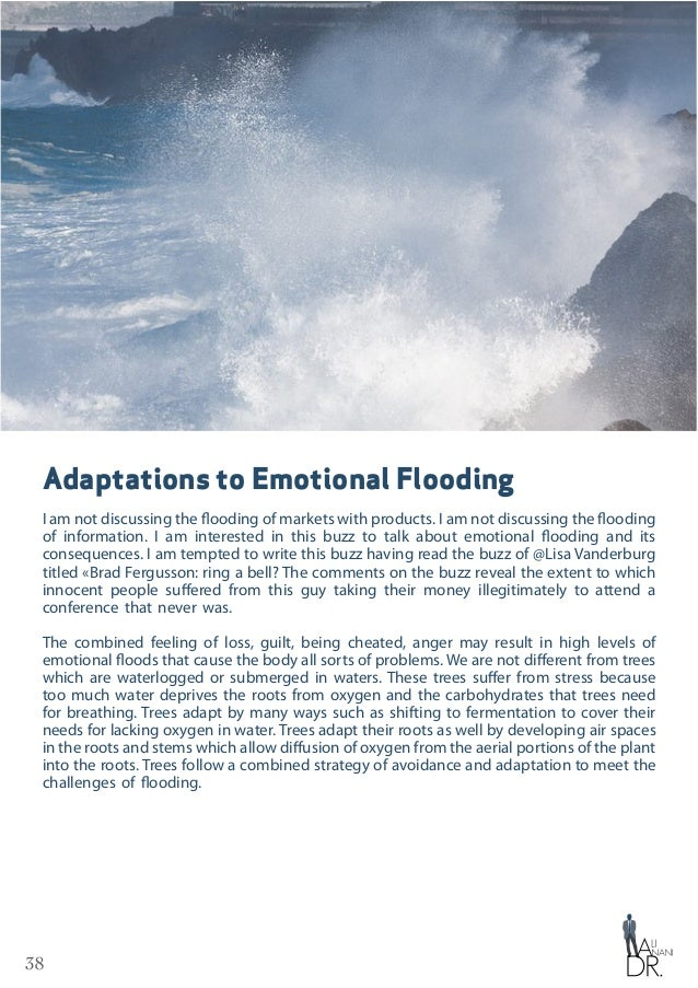 39 Adaptations to Emotional Flooding We humans are the same when we get immersed in the floods of negative emotions. The m...