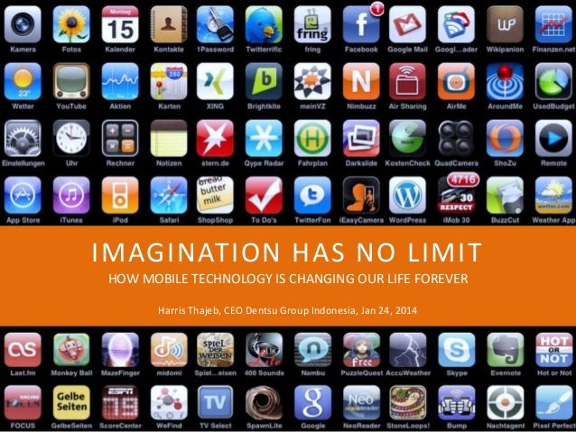 IMAGINATION HAS NO LIMIT HOW MOBILE TECHNOLOGY IS CHANGING OUR LIFE FOREVER Harris Thajeb, CEO Dentsu Group Indonesia, Jan...