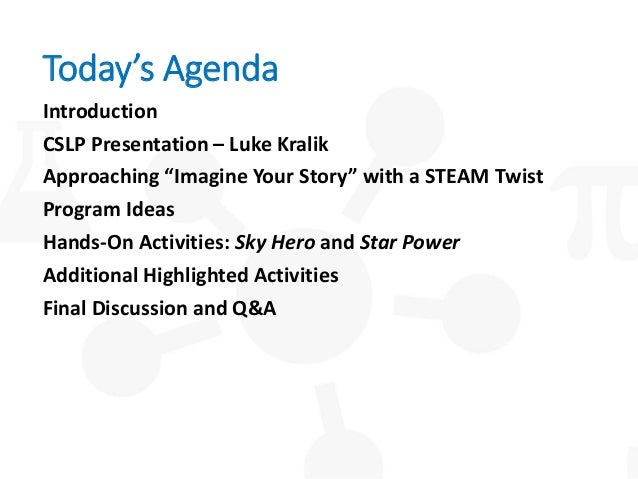 Imagine Your Story... with a STEAM Twist! Slide 3