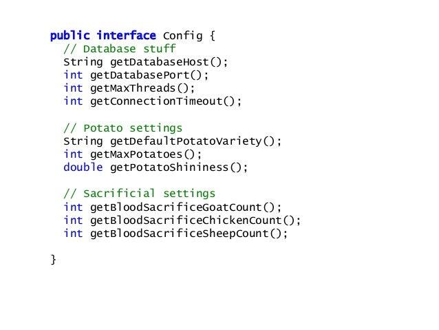 public class PotatoServiceTest { Config config = mock(Config.class) @Before public void before() { when(config.getDefaultP...