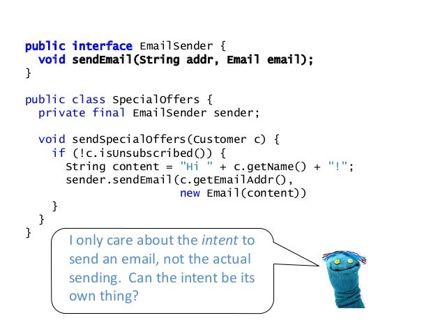 - Separated intent from execution - More reusable - Simpler - Easier - Mocks are gone