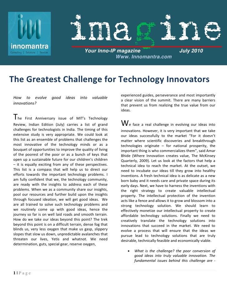 imagine    Your Inno-IP magazine                                July 2010                                                 ...