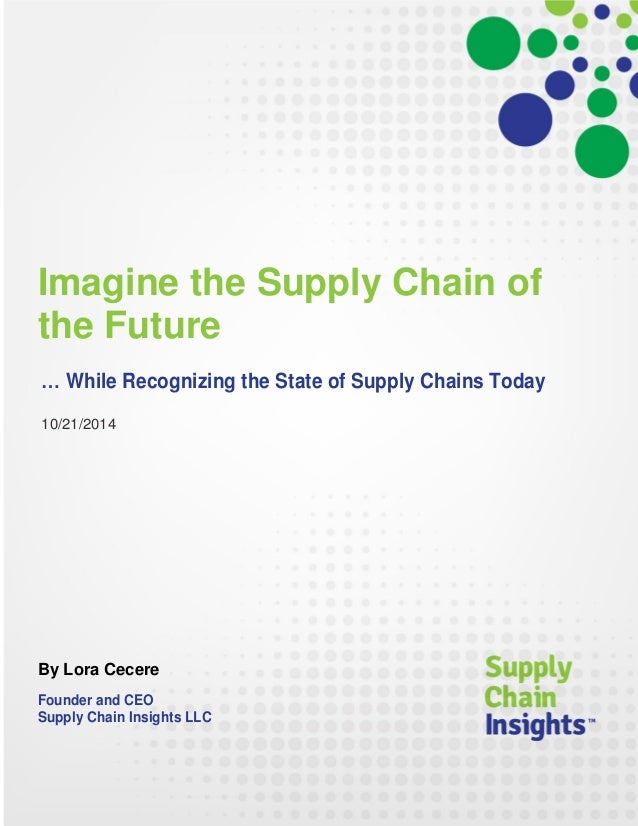 Imagine the Supply Chain of the Future - 21 OCT 2014