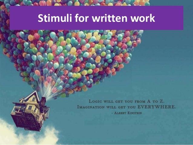 Stimuli for written work