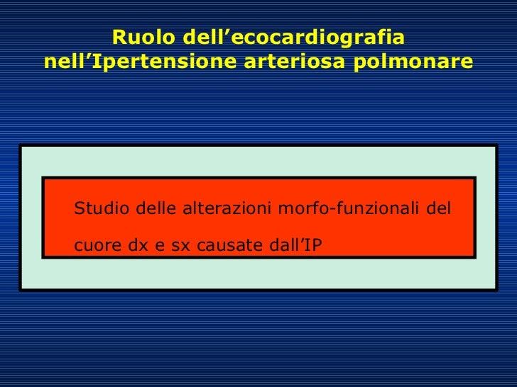 ipertensione polmonare, imaging del ventricolo destro