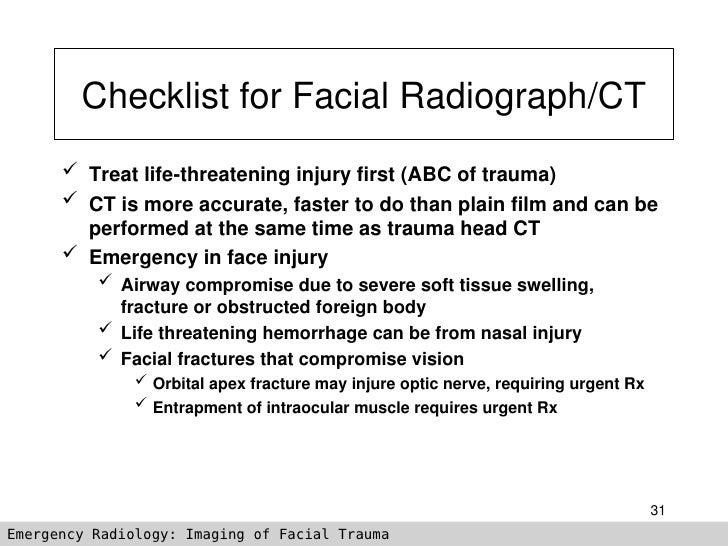 Imaging Of Facial Trauma Part 3