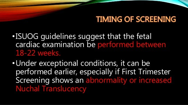 isuog guidelines for the fetal cardiac examination