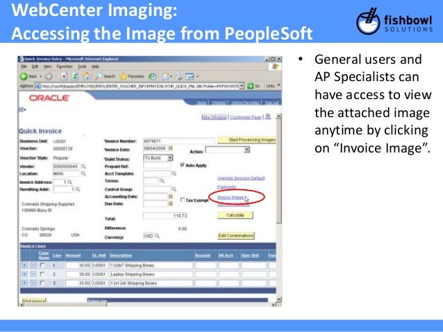Accelerate Your PeopleSoft Accounts Payable Process Into Overdrive Wi - Invoice imaging software