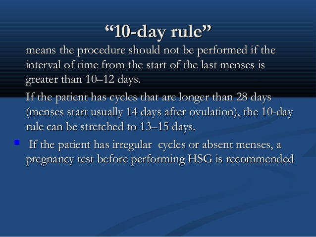 10 day rule dating