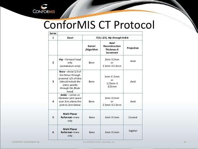 Conformis Knee CT Protocol | Ct Scan | Image Scanner ...