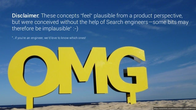 Disclaimer: These concepts *feel* plausible from a product perspective, but were conceived without the help of Search engi...