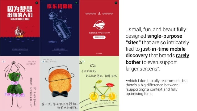 """…small, fun, and beautifully designed single-purpose """"sites"""" that are so intricately tied to just-in-time mobile discovery..."""