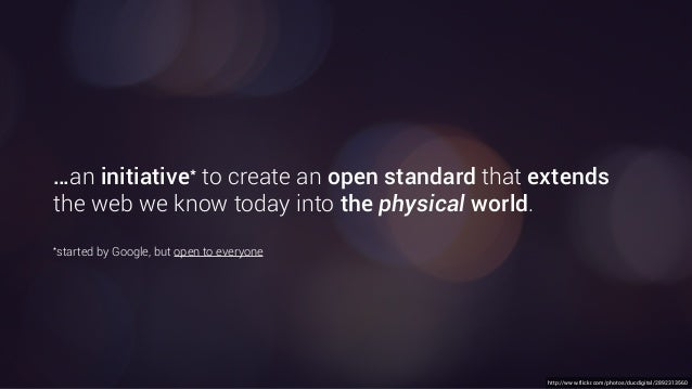 http://www.flickr.com/photos/ducdigital/2892313560 …an initiative* to create an open standard that extends the web we know...