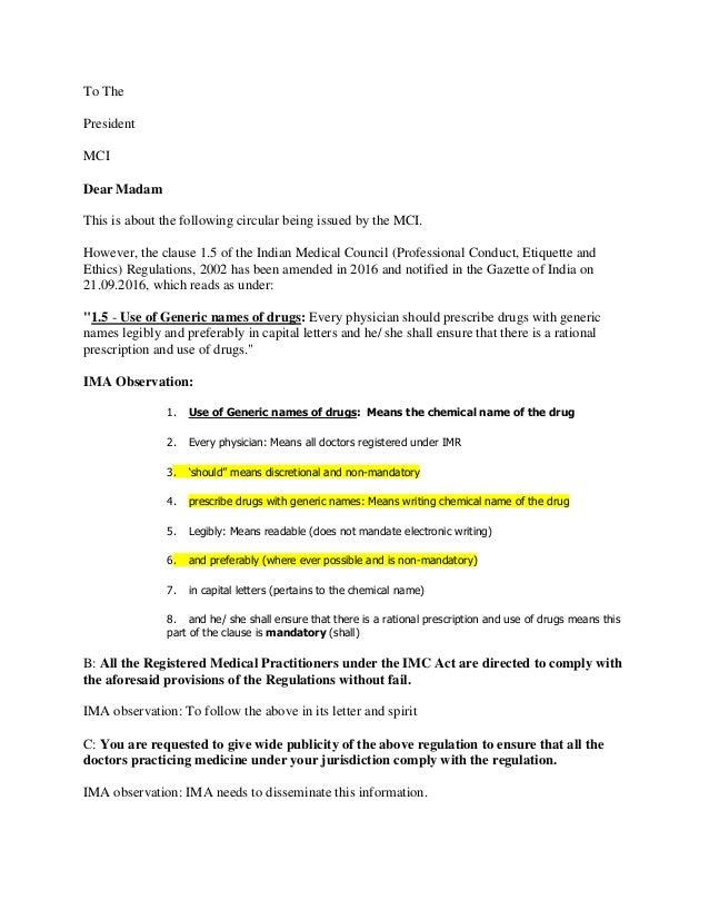 c3ef6f84e3b4 IMA Letter on Prescribing Generics